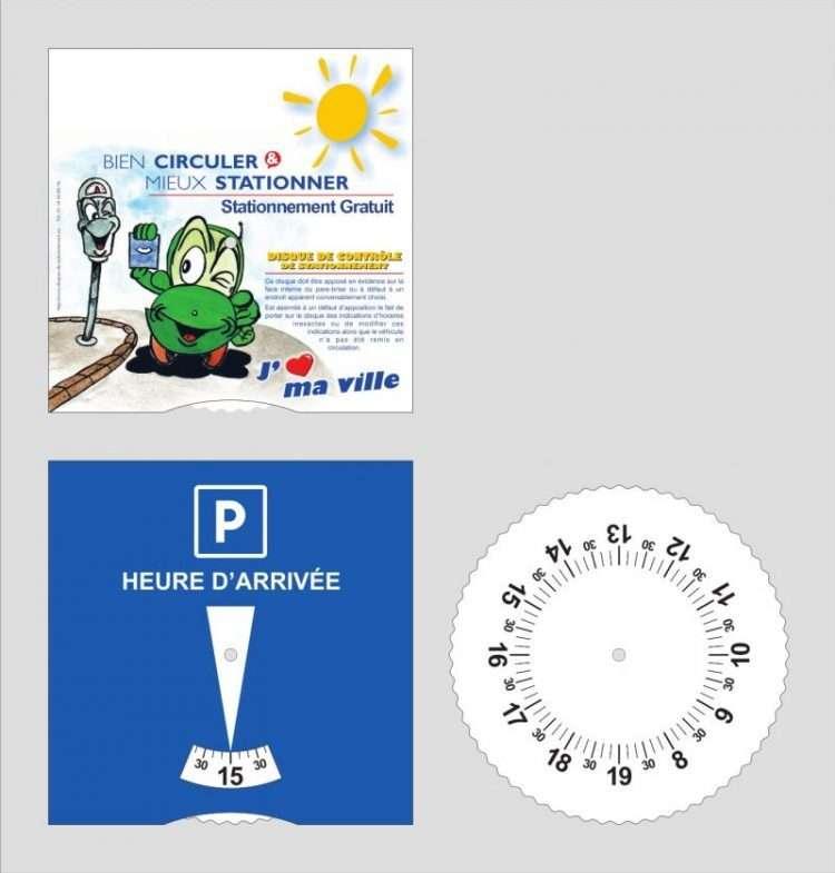 Disques de stationnement pour zone bleue - nouvelle norme française selon arrêté du 6 décembre 2007