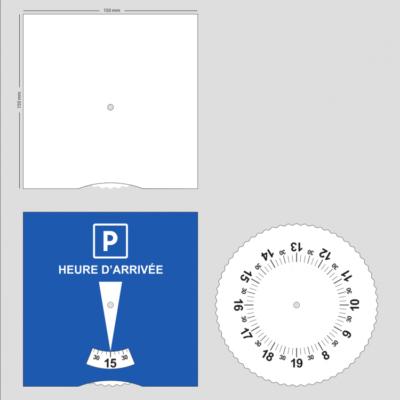 Disques de stationnement pour zone bleue - dos vierge
